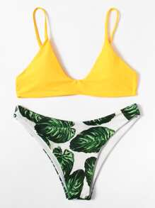 Jungle Print Mix And Match Bikini Set