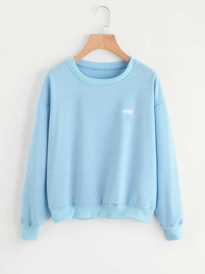 Polar Bear Embroidered Sweatshirt