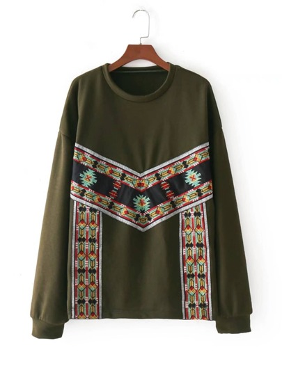 Embroidery Detail Sweatshirt