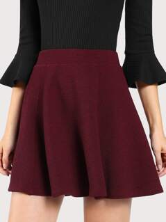 Elasticized Waist Swing Skirt