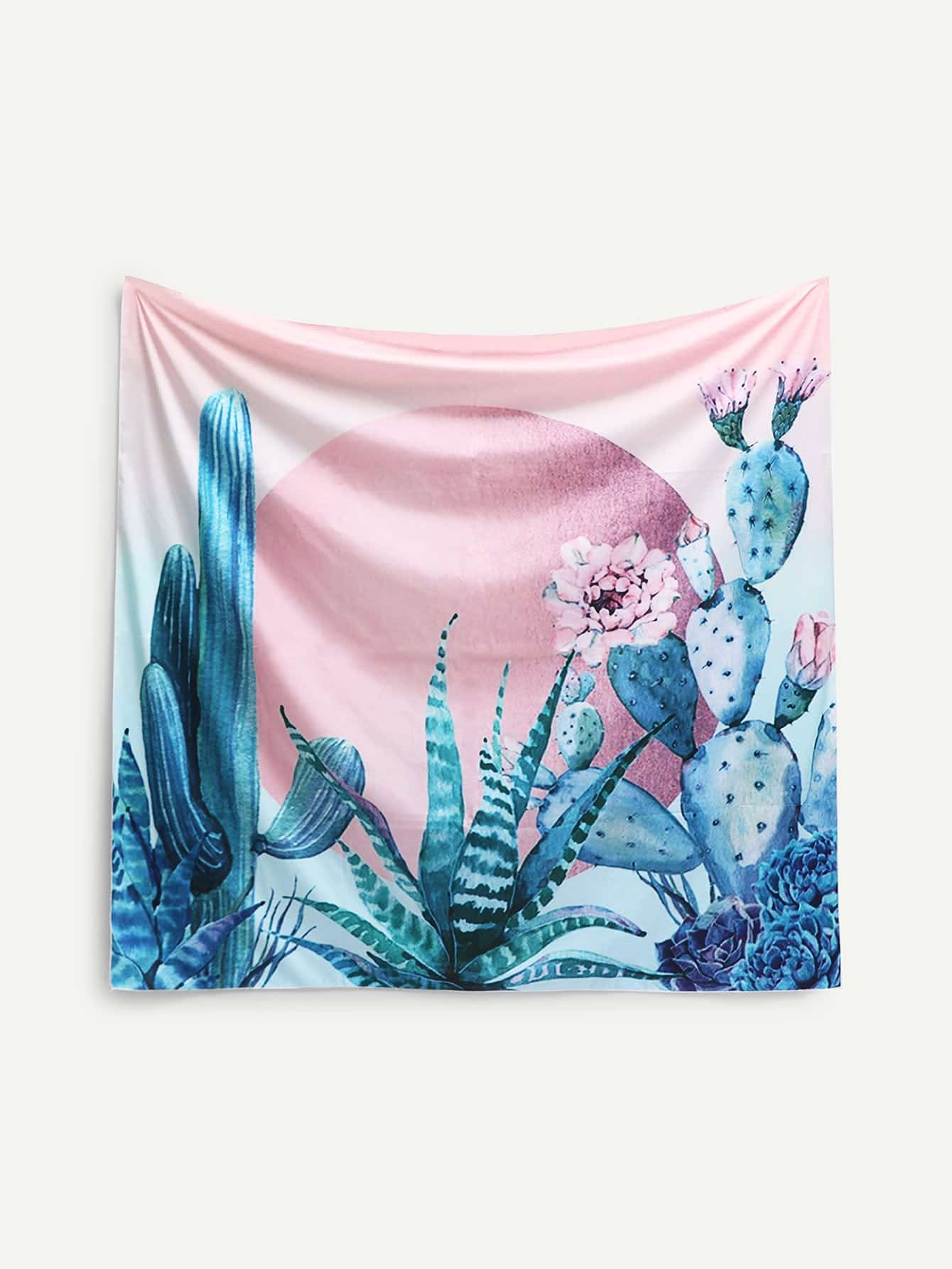Image of Cactus & Aloe Vera Print Tapestry