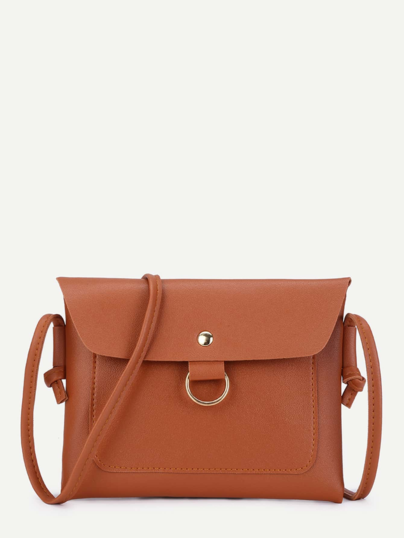 O Ring Crossbody Bag With Knot Strap