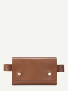 PU Flap Bum Bag