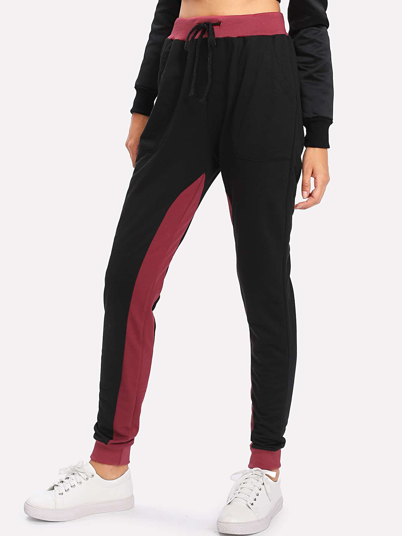 Image of Contrast Panel Sweatpants