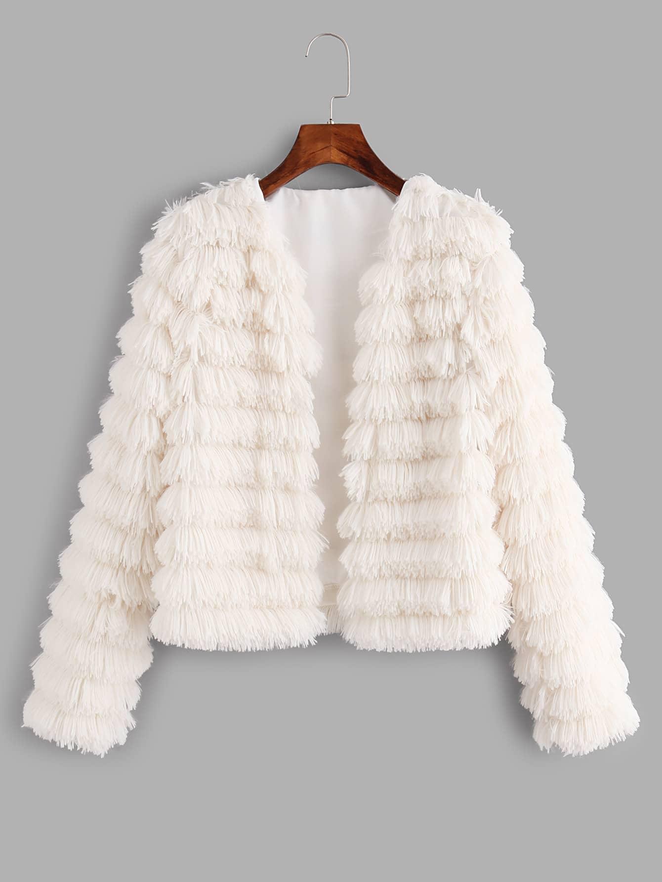Tiered Fringe Jacket