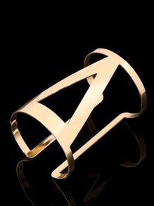 Triangle Cutout Cuff Bracelet