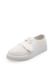 Lace Up Flatform Canvas Sneakers