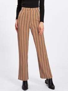Vertical Striped Straight Pants