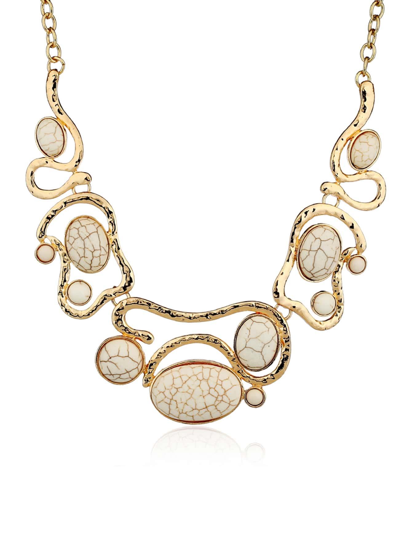 Asymmetrical Gemstone Necklace