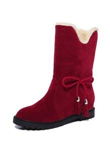 Tassel Tie Side Scrub Boots