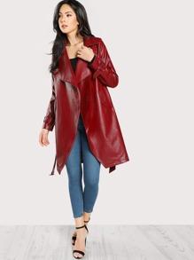 Drape Collar Rain Shield Wrap Coat