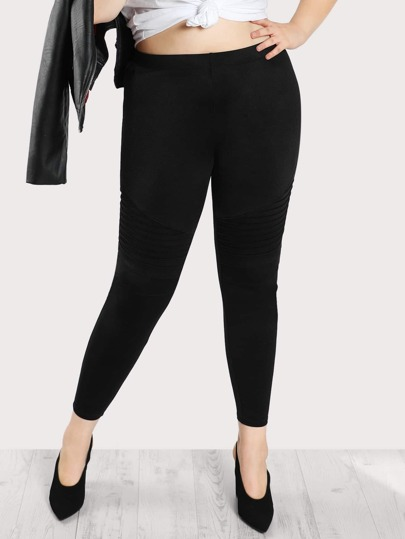 High Rise Quilted Knee Leggings