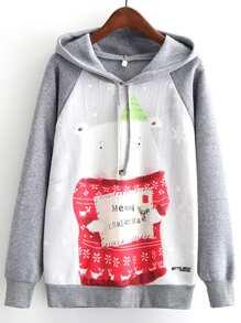 Camisa de capucha con navidad