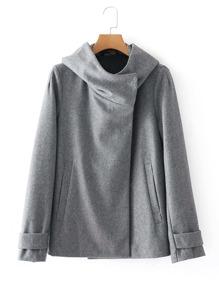 Oversized Collar Wool Blend Coat