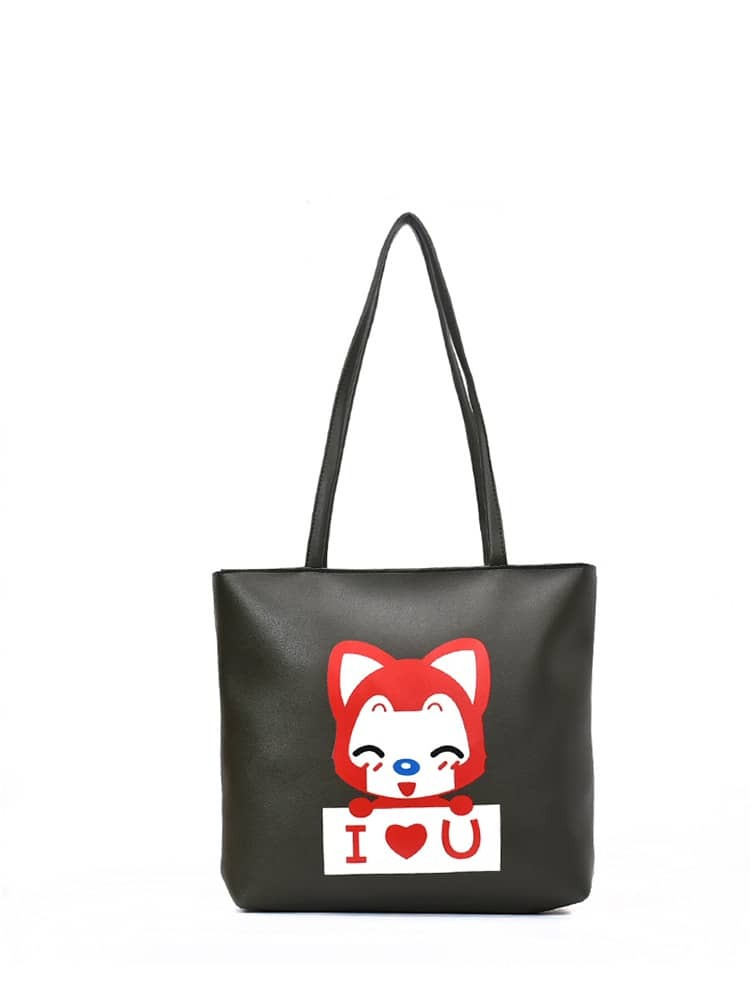 Animal Print PU Tote Bag