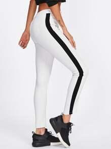 Block Stripe Side Pants