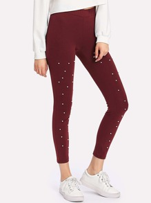 Pearl Beading Leggings
