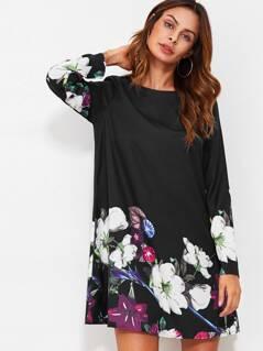 Flower Print Flowy Dress
