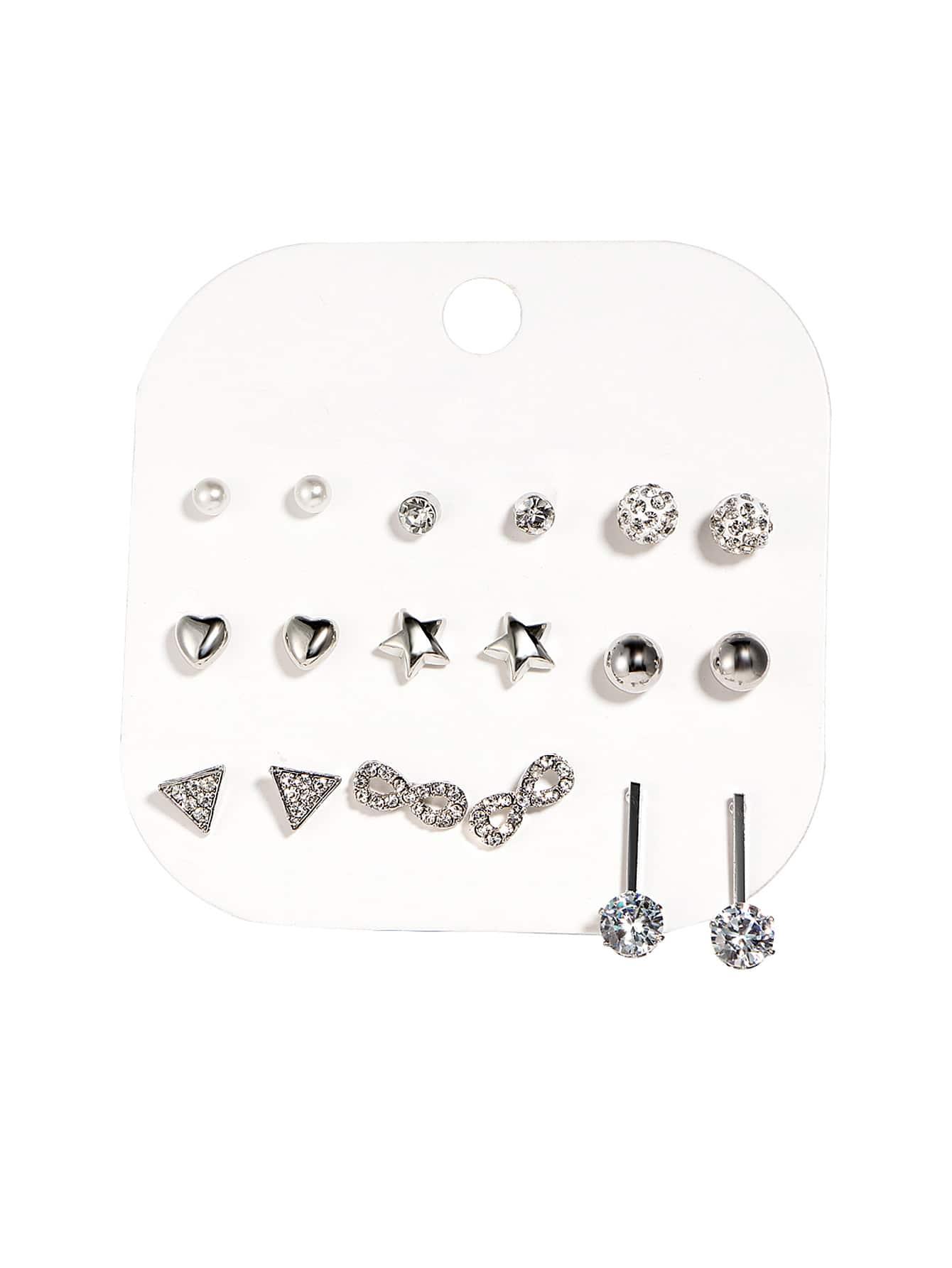 Star & Ball Design Earring Set