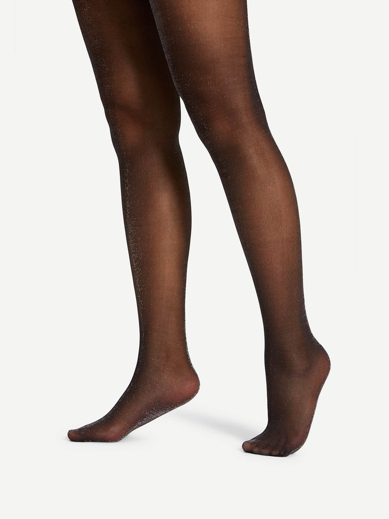 20D Glitter Tights 20d striped mesh tights