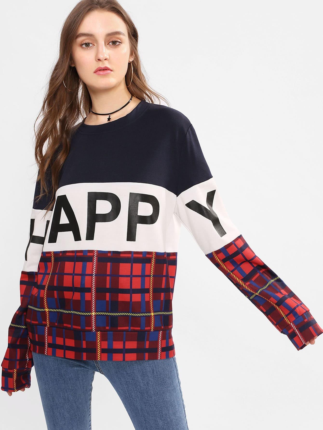 Cut And Sew Mixed Print Sweatshirt lisa corti сандалии