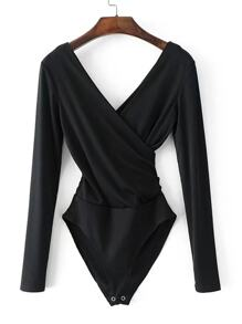 Double V Surplice Bodysuit