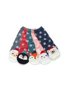 Christmas Cartoon Pattern Socks 3pairs