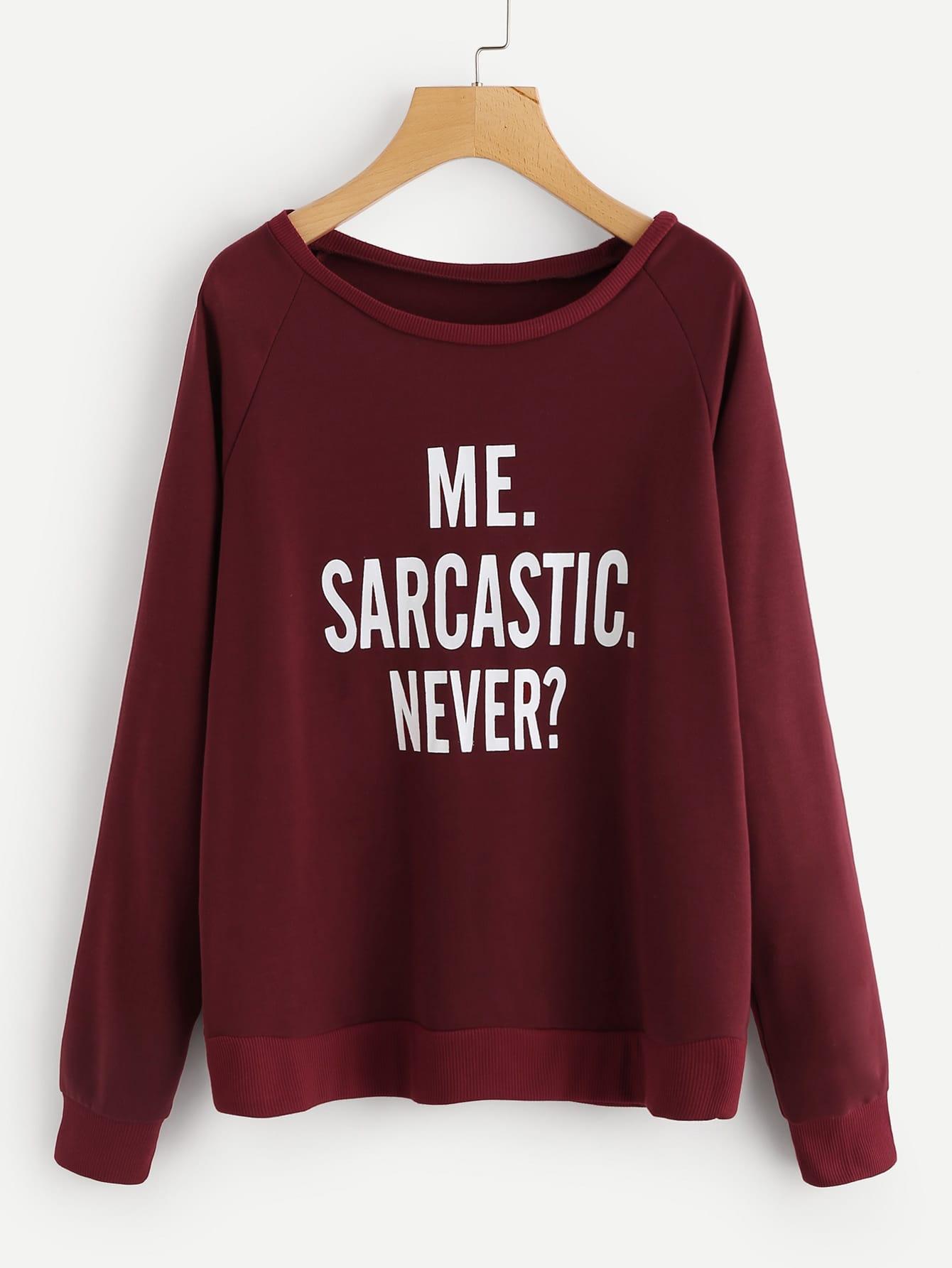 Raglan Sleeve Slogan Print Sweatshirt tree print raglan sleeve christmas sweatshirt dress