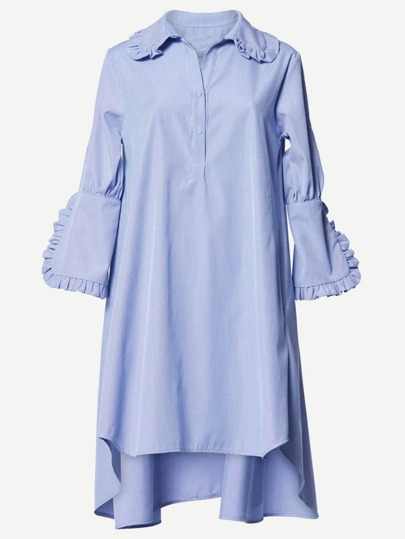 Robe Shirt à volants