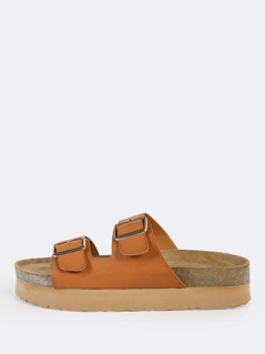 Duo Buckle Sandals TAN