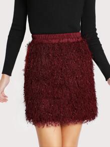 Fluffy Fringe Skirt
