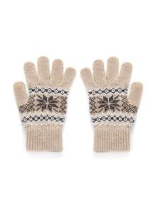 Christmas Geometric Pattern Knit Gloves