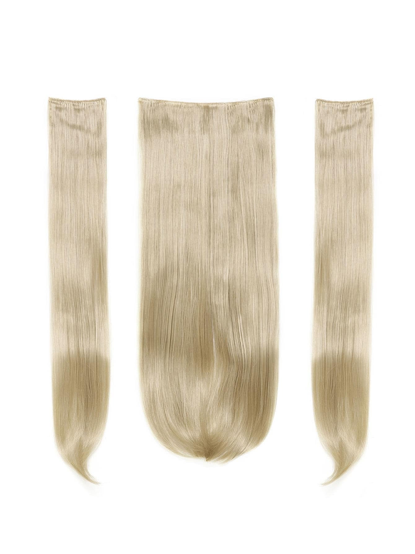 Pure Blonde Clip In Straight Hair Extension 3pcs