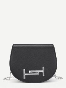 Metal Detail PU Saddle Bag