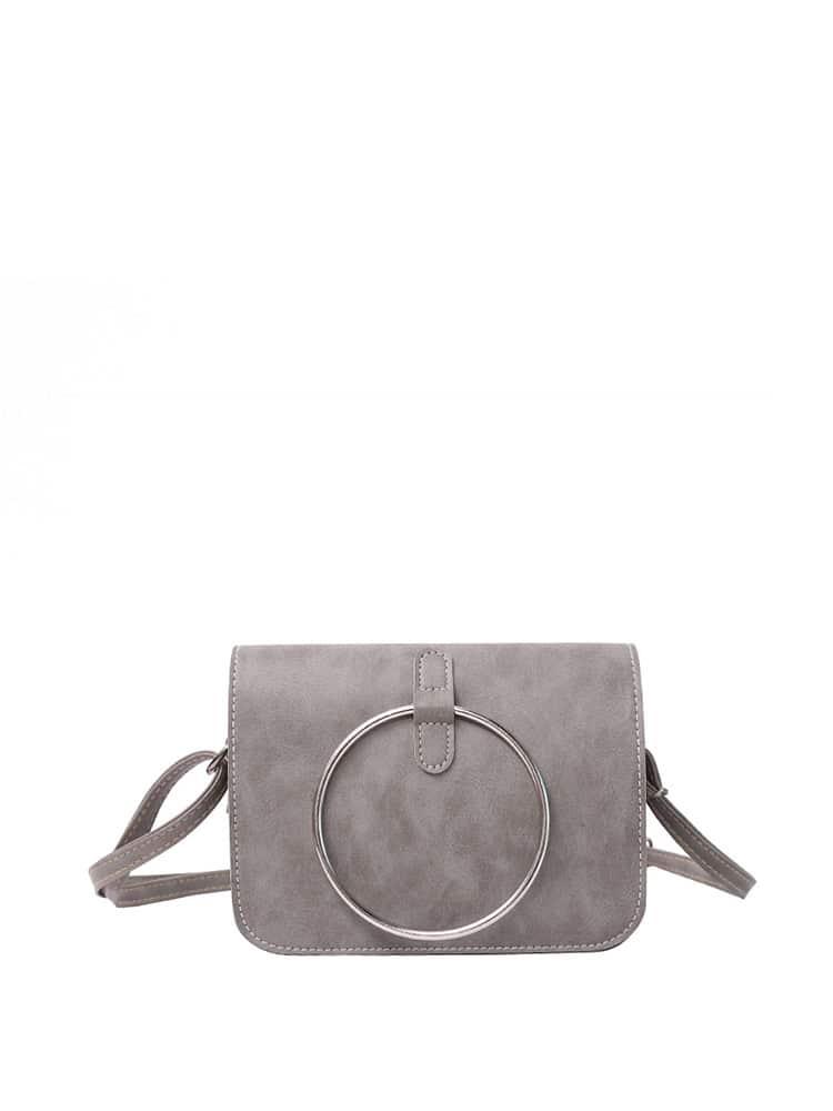 Ring Front Flap Shoulder Bag ring front flap shoulder bag