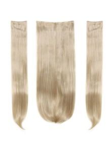 Light Blonde Clip In Straight Hair Extension 3pcs