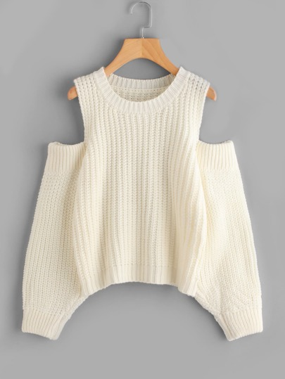 Cold Shoulder Knit Sweater