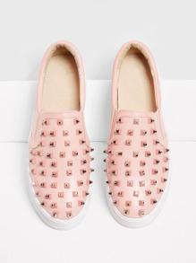Studded Detail Flatform Sneakers