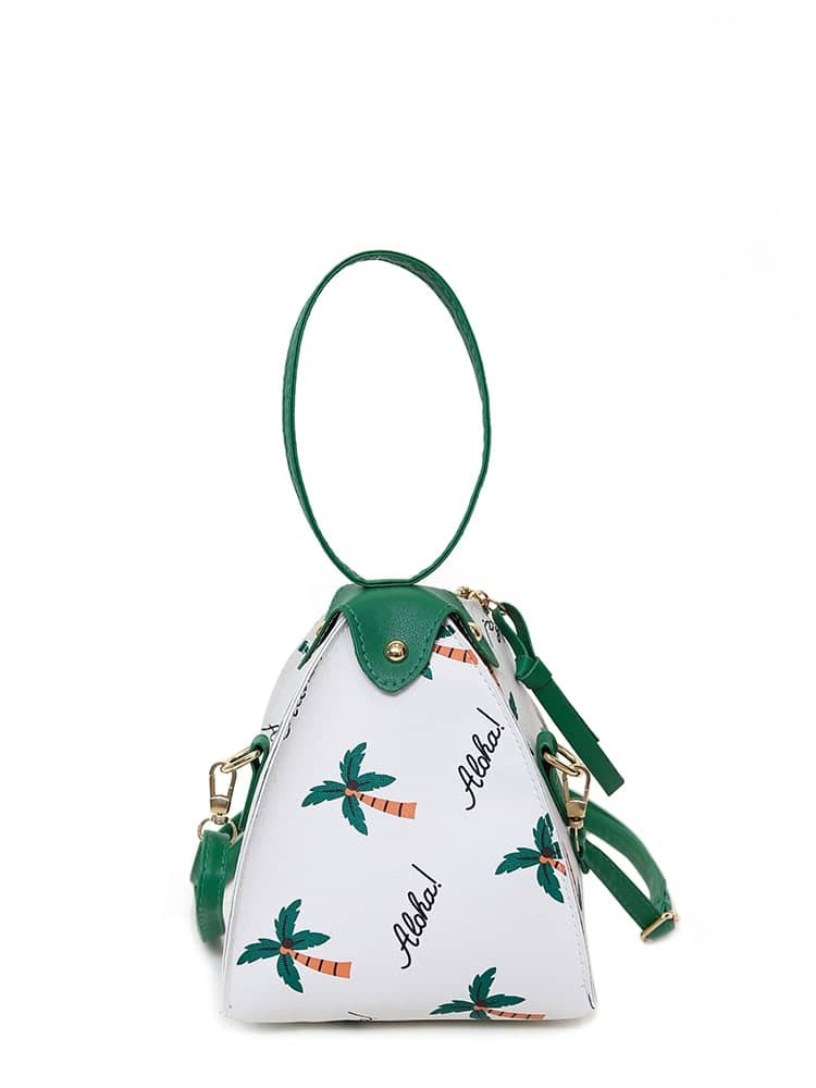 Coconut Trees Print Shoulder Bag