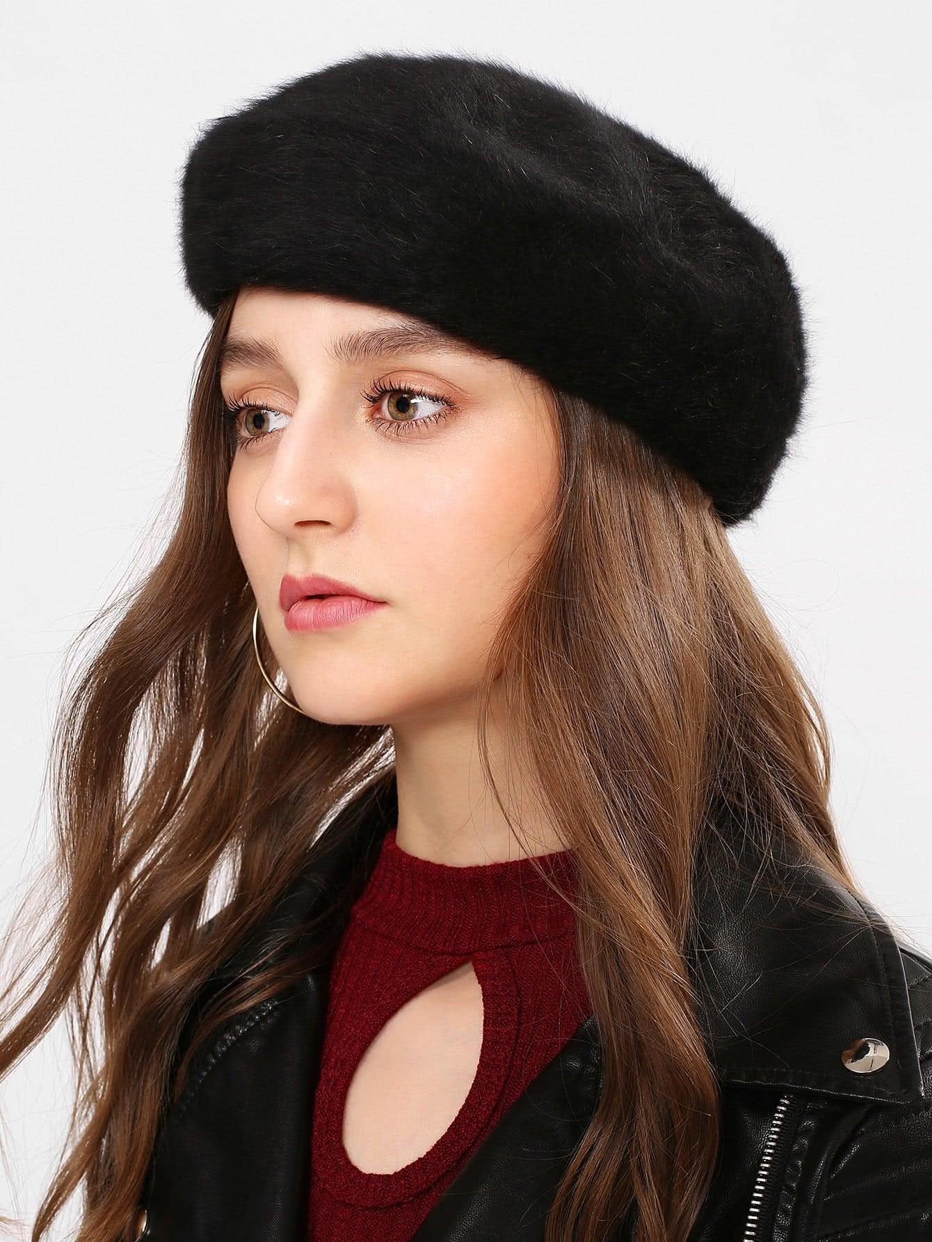 Faux Fur Beret Cap 2016 fashion hats for women genuine mink fur hat knitted winter fur hats ladies elegant mink beret cap trendy warm thick beanies