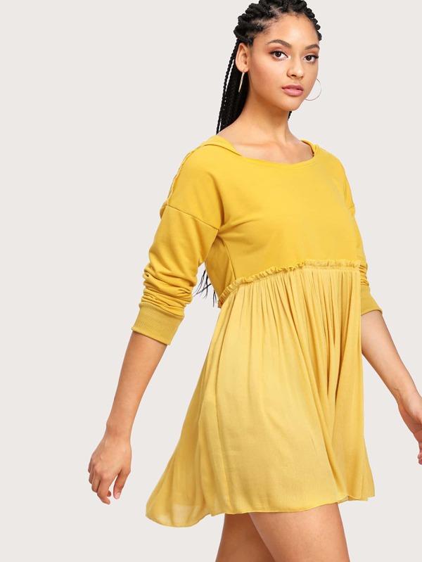 Yellow baby doll dress
