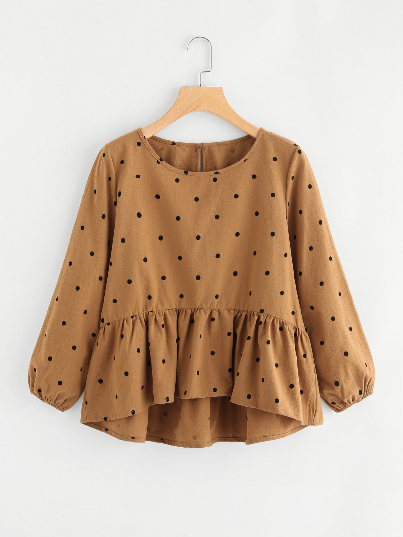 Spot High Low Pep Hem Blouse все цены