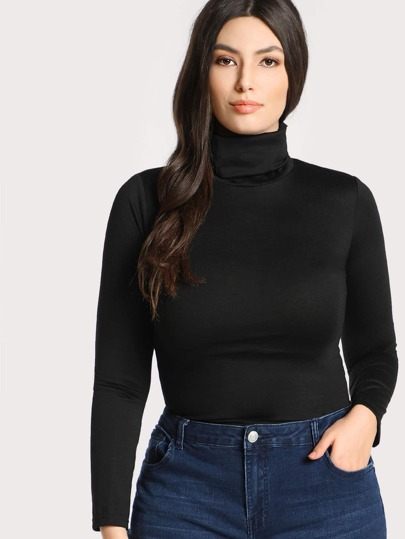 High Neck Form Fitting Top