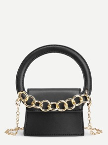 PU Chain Bag With Handle
