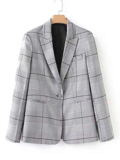 Glen Plaid Tailored Blazer