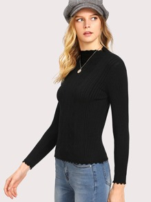 Scallop Edge Cable Knit Jumper