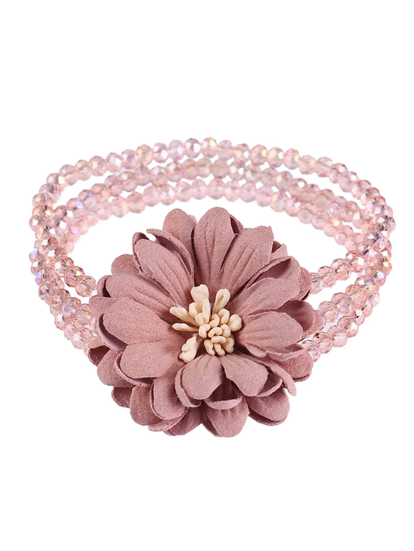 Mehrlagiges Armband mit Blumen