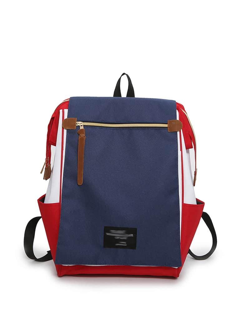 Color Block Canvas Backpack fit 16951