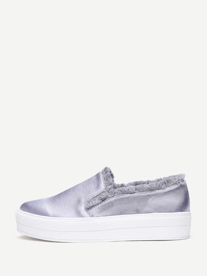 Raw Trim Slip On Sneakers