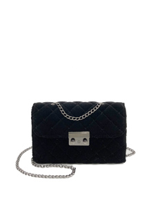 Quilted Velvet Chain Bag